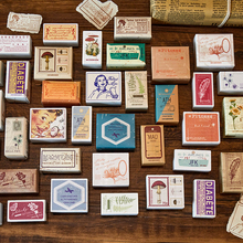 VanYi 20 Designs Vintage Styles Wooden Rubber Stamp for Scrapbooking DIY Craft Standard Wooden Stamps Journal Office Supplies