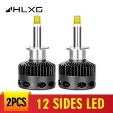 12 lados D3S LED ampolla Led H7 12 lados 18000lm faro del coche Kit de H11 9006 Led 9005 H1 bombilla D1S D2S D4S H8 niebla luces 12V 12V 6000K