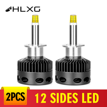 12 seiten D3S LED Ampulle Led H7 12 Seiten 18000lm Auto Scheinwerfer Kit H11 Led 9006 9005 H1 Birne D1S d2S D4S H8 Nebel Lichter 12V 6000K