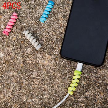 4 kabel Pc Protector Winder linia danych Case liny rękawy sprężyna ochrona sznurka losowo tanie i dobre opinie JETTING Cable Protector Other