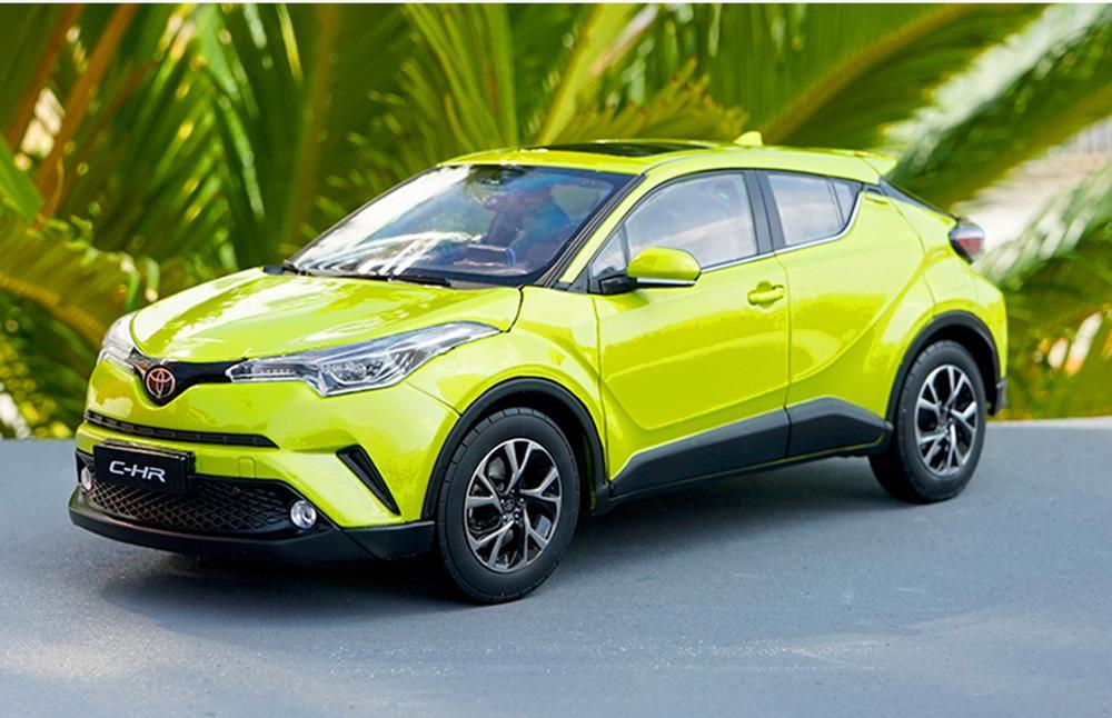 1/18 échelle Toyota C-HR CHR jaune moulé sous pression voiture modèle jouet Collection cadeau NIB