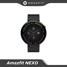 Orijinal küresel Amazfit Nexo Smartwatch seramik çerçeve 10 spor modları GPS Glonass 1.39 inç AMOLED ekran Android telefon için