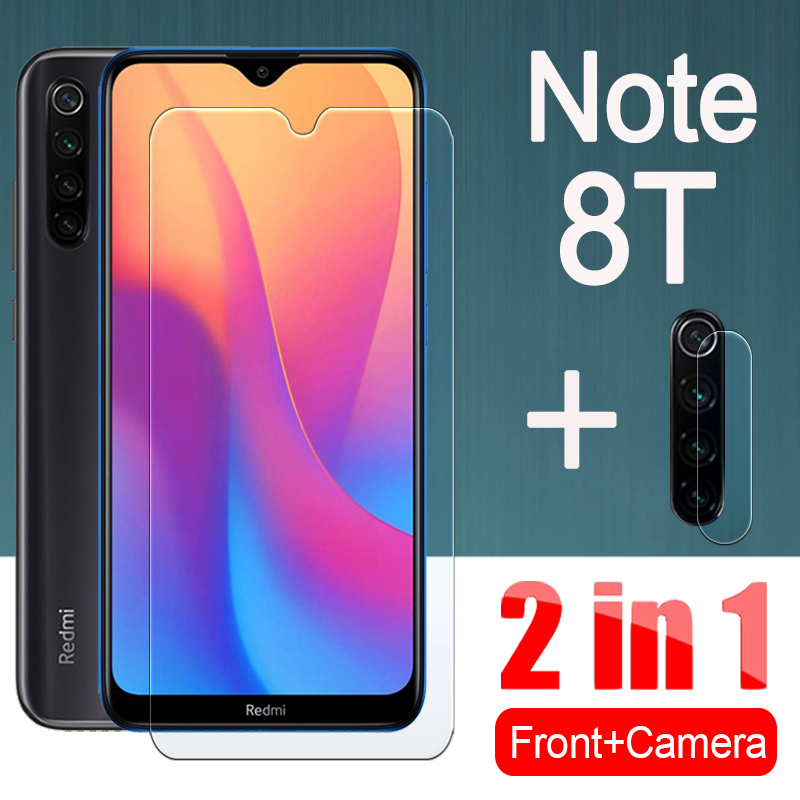 2in1 redmi note 8t protective glass for xiaomi ksiomi note8t 8 t Notes t8 Screen Protector With Camera Lens film Tempered Glas(China)