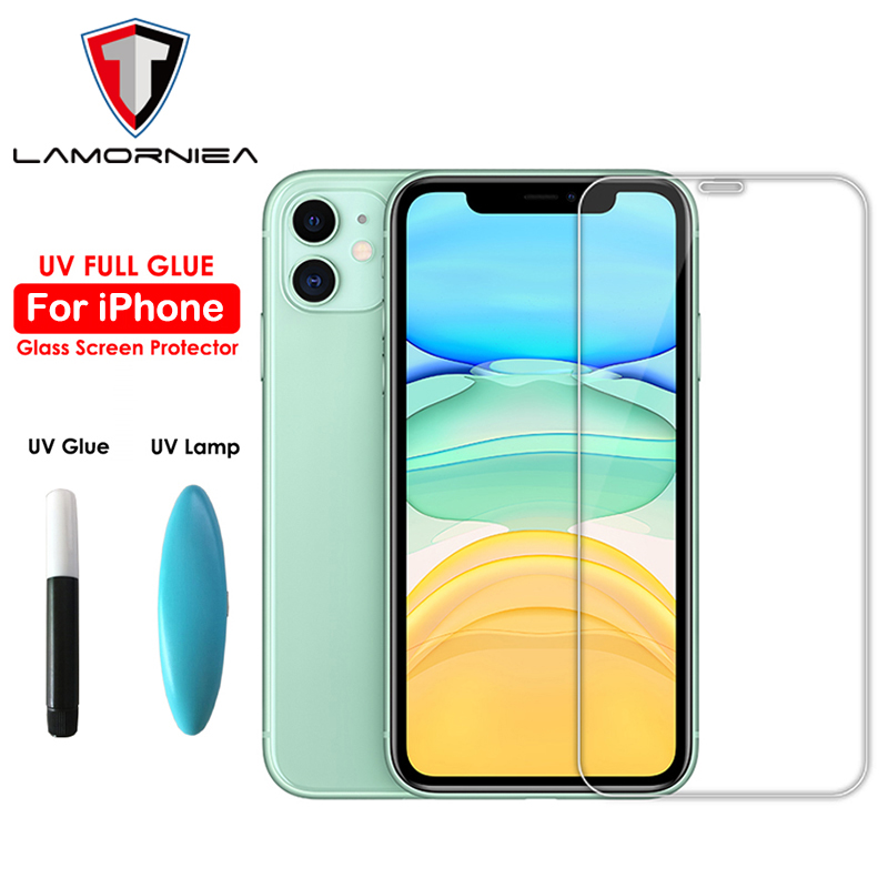 100D UV Full Glue Sceen Protector For IPhone 11 Pro Max Nano Liquid UV Tempered Glass For IPhone 11 Pro Max X XS Screen Film