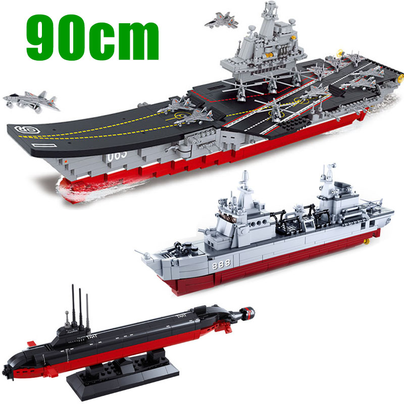 Submarine Aircraft carrier Figures Building Blocks Toy Fit with LEGO DIY 193PCS