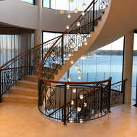 Phube Lighting Large Foyer Modern Crystal Chandelier Staircase Chandelier Light Fixture Oval Shape 50 Head 100%+Free shipping!