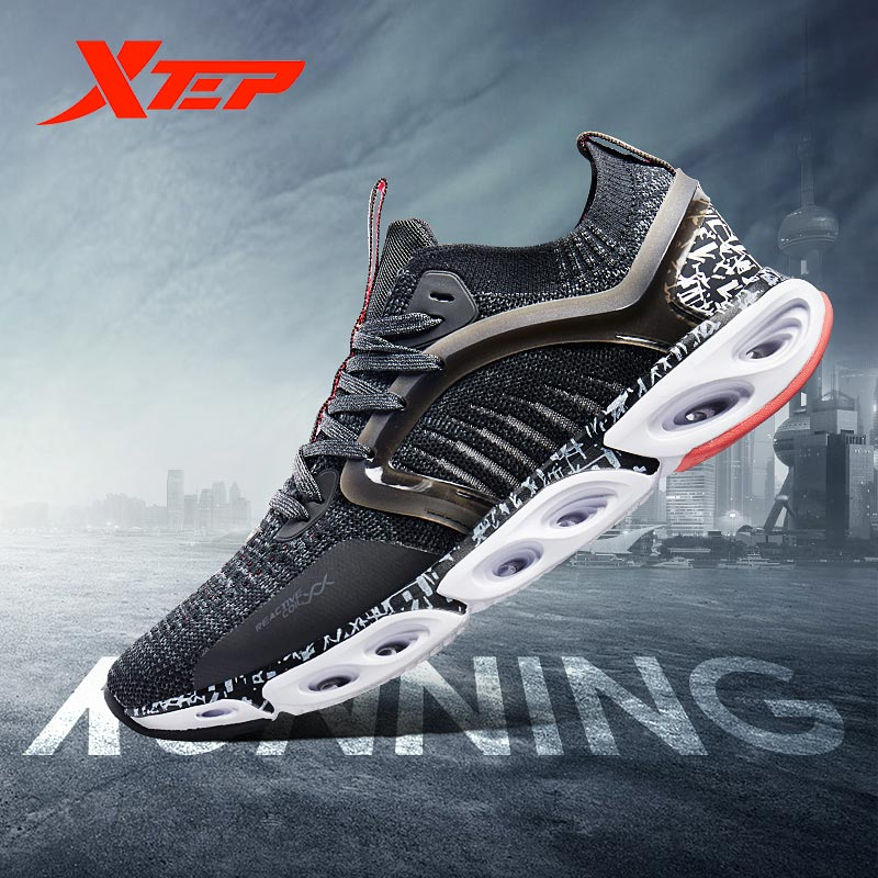 Xtep Reactive Coil Men Running Shoes Male Breathable Light Mesh Trainers Sneaker Athletic Men's Sport Sneakers 981219110216