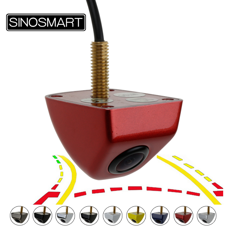 SINOSMART Universal HD Parking Reverse Backup Dynamic Trajectory Lines Camera For Car/Suv Etc. 6V 12V