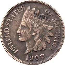 Копия монеты 1908-S в индийском стиле