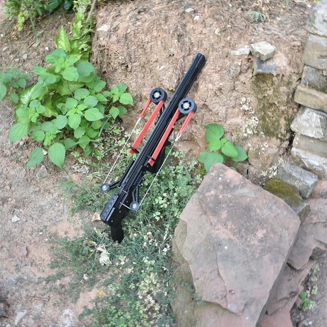 Classic Version Wolf King Powerful Slingshot Rifle Semi-Automatic 40BB Enhanced Edition Slingshot Rifle Sling Bow Traction 4