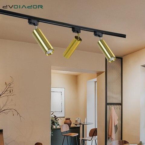 cob led faixa de luz aluminio ouro teto trilha lampada trilho regulavel 7 w 10