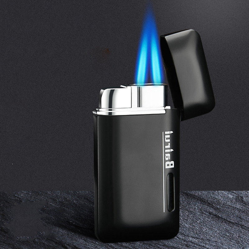Unusual Lighters Gas Lighters Butane Two Torch /Turbo Lighter Metal 1300C Jet Gadgets for Men Smoking Accessories