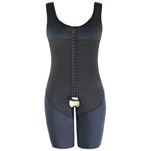 Image 4 - גברים מותניים מאמן מלא גוף Shaper Vest בטן בתוספת גודל 6XL פלדה גרומה בגד גוף פתוח מפשעה זכר Slim Fit להדק תחתונים