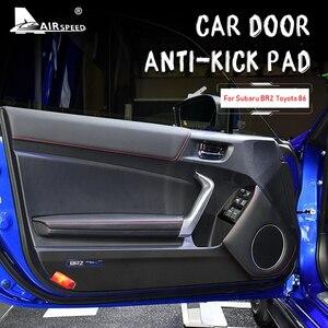 AIRSPEED Leather Carbon Fiber Texture Interior Door Anti - kick Pad Cover Sticker for Subaru BRZ Toyota 86 2013-2020 Accessories