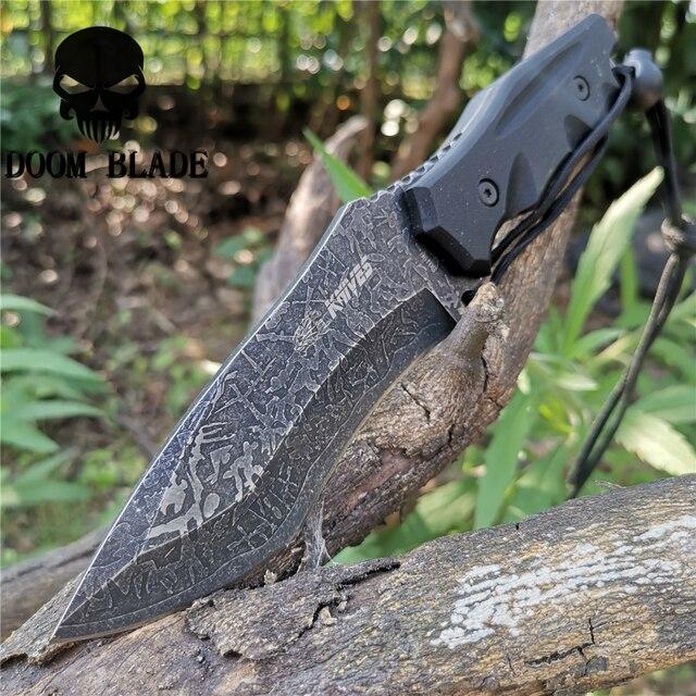 سكين مستقيم 8CR13MOV شفرة فولاذية ثابتة المحمولة التكتيكية أداة السكاكين جيدة للصيد التخييم بقاء في الهواء الطلق كل يوم