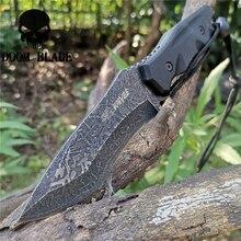 Couteaux tactiques portables fixes avec lame en acier 8CR13MOV, les bons pour la chasse, le Camping, la survie en plein air, porter sur un quotidien