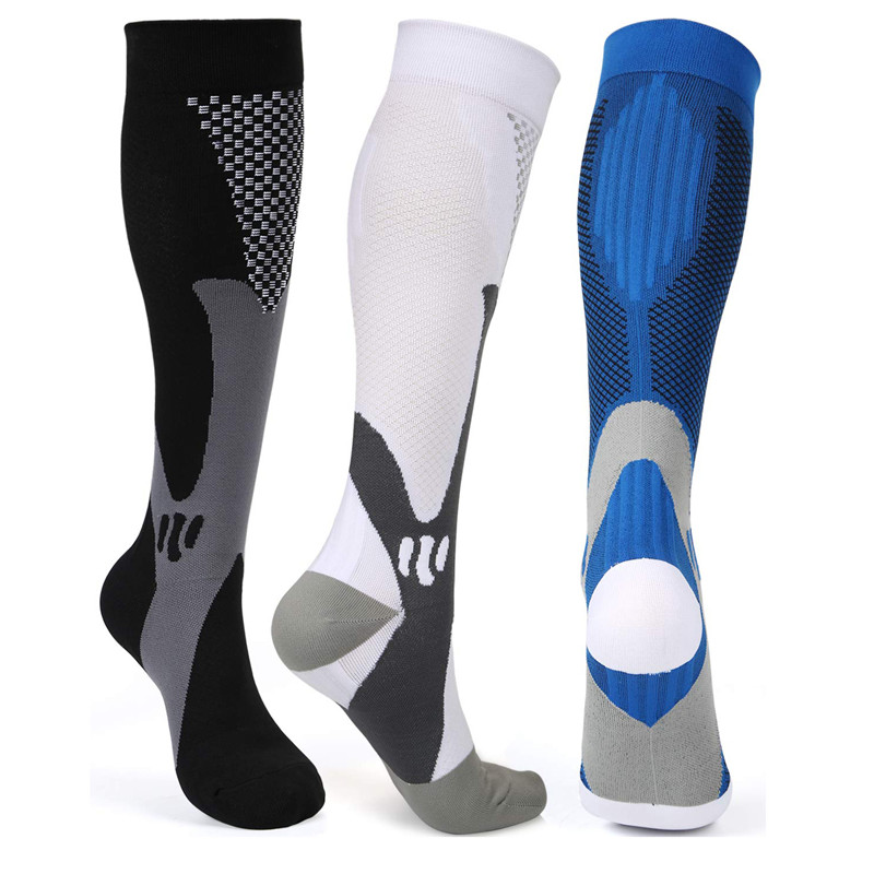 Anti Fatigue Women Men Sport Running Flight Travel Compression Socks Tired Anti Varicose Veins Stockings For Men Women Travel