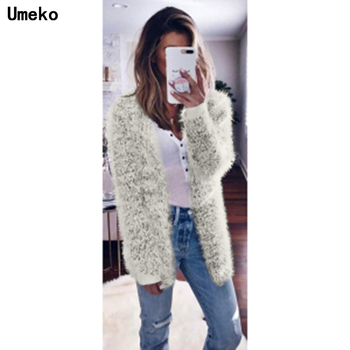 2020 Women's Sweater Coat Solid Autumn Fashion Casual Loose Sweater Cardigan Pocket  Hooded Knit Cashmere Thicker Warm Outwear