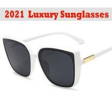 2021 кошачий глаз дизайнерские солнцезащитные очки женские высококачественные