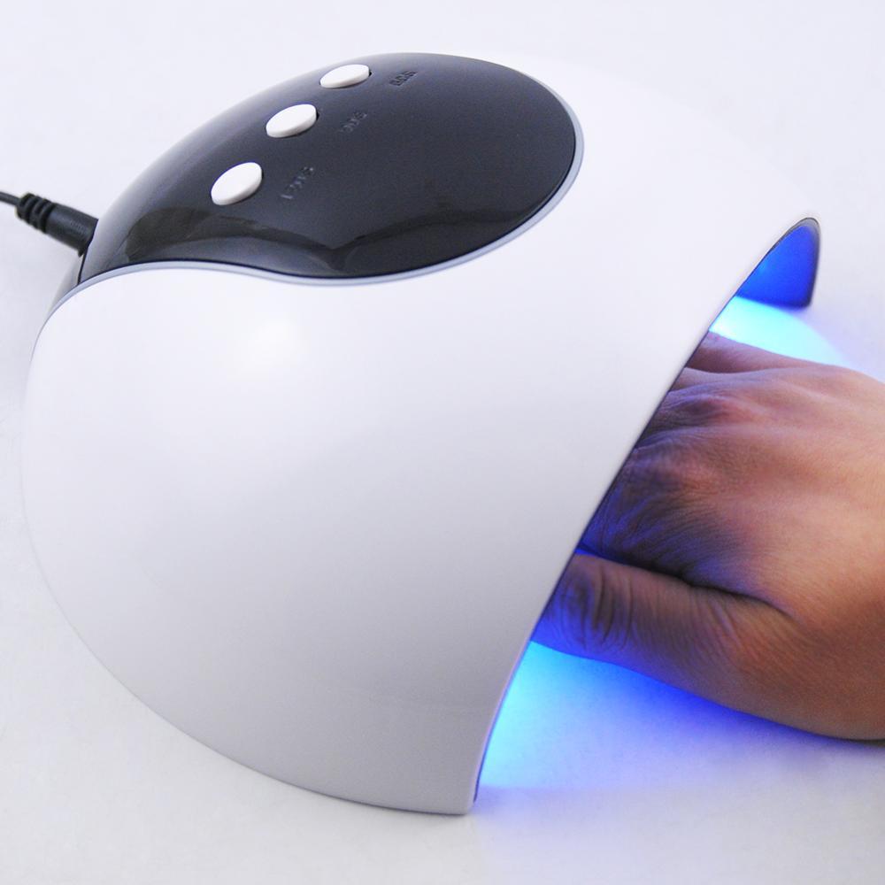 24W Lamp For Nail 10 Color UV Gel Nail Polish Kit Manicure Machine Art Tools Set Top Base Varnish Semi Permanant Uv Lamp in Sets Kits from Beauty Health