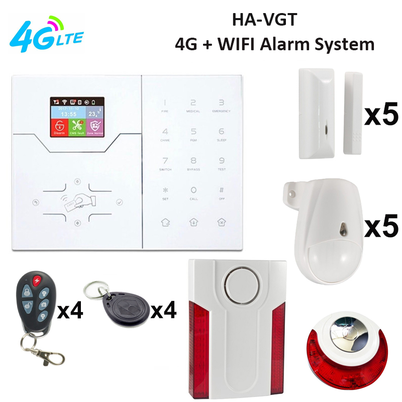 FOCUS HA-VGT LAN IP+4G Intruder Security Alarm System With Indoor Outdoor Loud Garden Intruder Warning Alarm System 4G