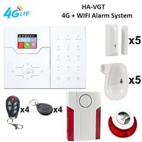 FOCUS HA VGT LAN IP+4G Intruder Security Alarm System with Indoor Outdoor Loud Garden Intruder Warning Alarm System 4G