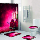 4Pcs Rose Bathroom S...