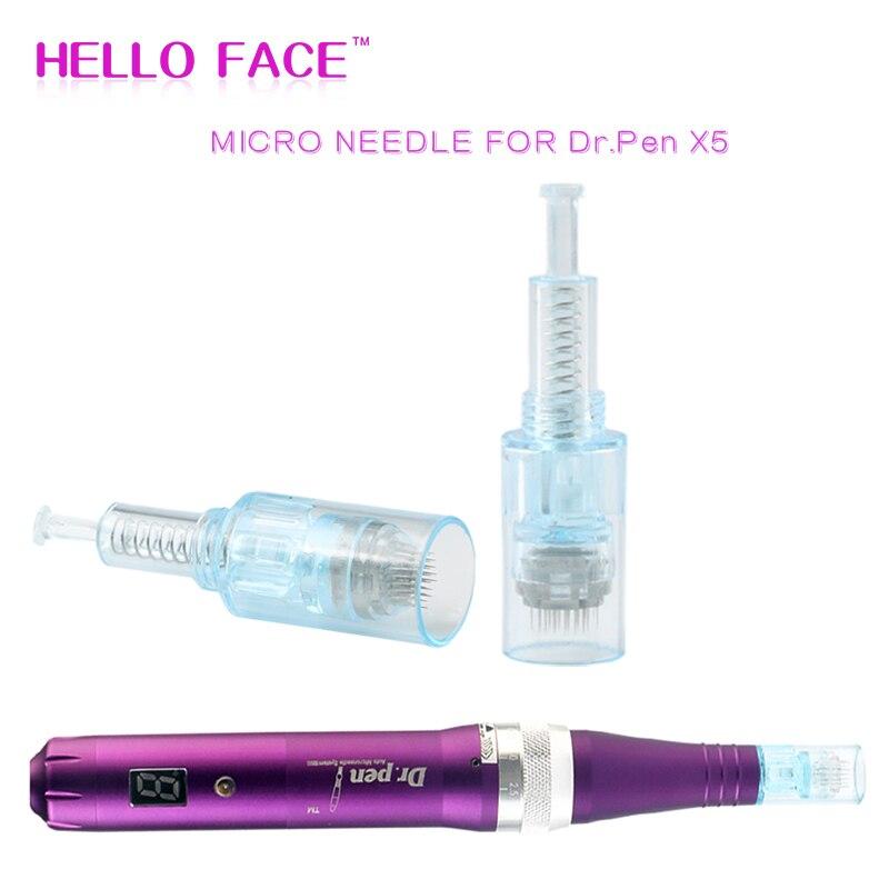 Meso Micro Needle Derma Pen X5 10 PCS Needles Bayonet 9 12 36 42 Pin Nano Cartridge Tattoo Needles