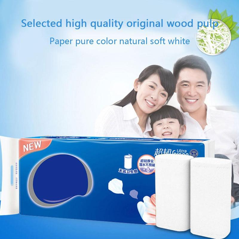 10 Rolls Toilet Roll Paper 4 Layers Home Bath Toilet Roll Paper Native Wood Pulp Toilet Paper Tissue Roll Safety Paper Towels