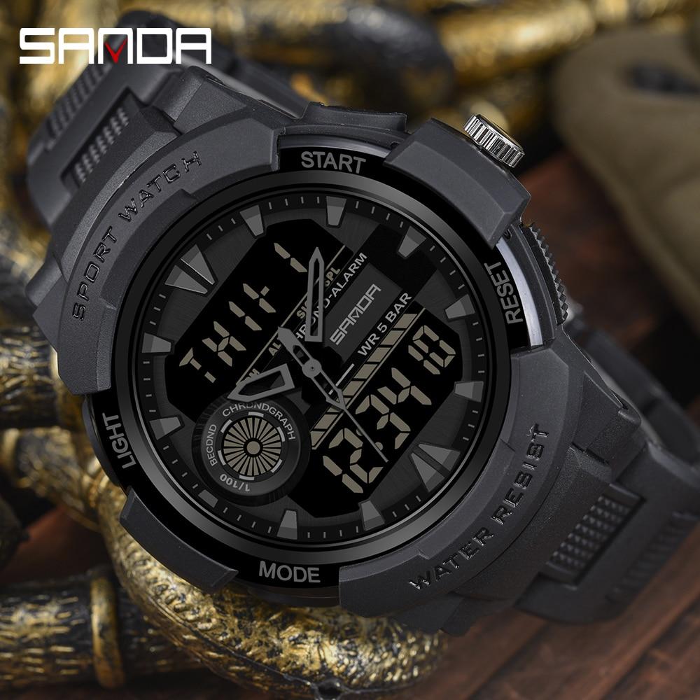 2020 SANDA Military Men's Watch Top Brand Luxury Waterproof Sport Wristwatch Fashion Quartz Clock Male Watch Relogio Masculino