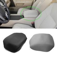 Para honda pilot 2009 2010 2011 2012 2013 microfibra de couro do carro interior centro apoio braço console caixa almofada capa protetora guarnição
