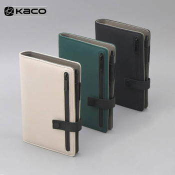 Youpin KACOGREEN BUCKLE Notebook Paper PU Leather Card Slot Wallet Book For Office Travel Notebook Note Pad Smart Home/KACO Pen