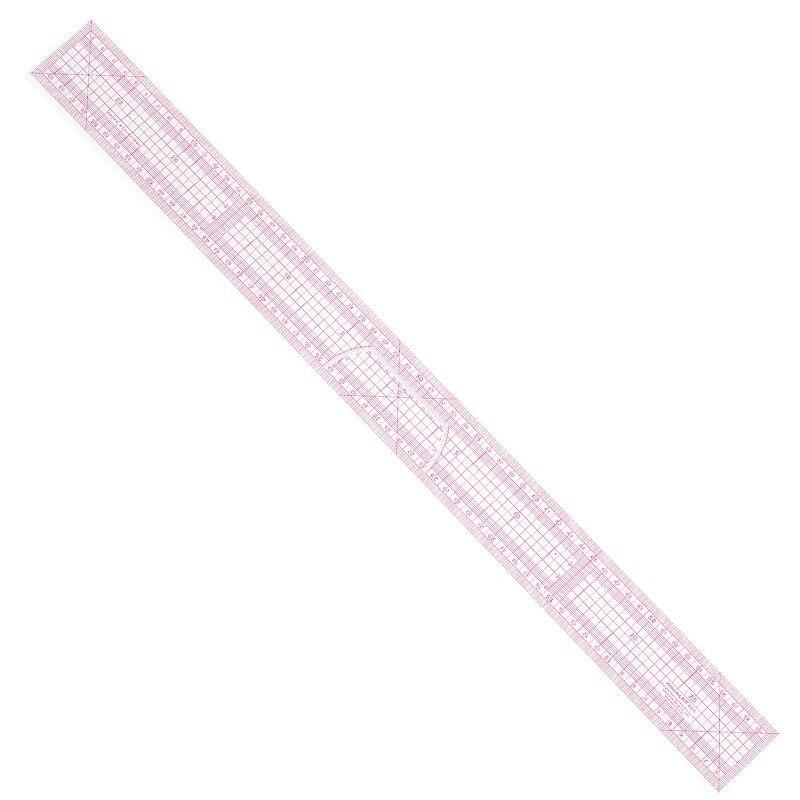 60cm Graph Ruler Plate Making Ruler High Transparent Material Long Tailor Design Tool Tailoring Supplies 8005