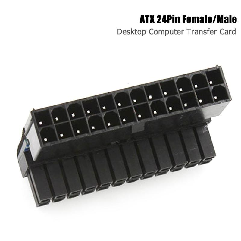 90 Degree Desktop  Adapter Excellent ABS Plastics Prolonged Durable PC ATX 24Pin Female To 24Pin Male Motherboard Power