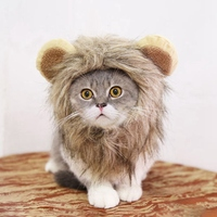 Halloween Funny Cute Pet Costume Cosplay Lion Mane Wig Cap Hat for Cat Xmas Clothes Fancy Dress with Ears Pet Dog Cats Product