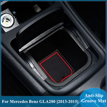 For Mercedes Benz GLA200 220 260 Accessories Gate Slot Pad Rubber Mat Door Mat Anti-Slip Cup Pad Interior Decoration Mats image