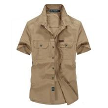 Militär Sommer Shirt für Herren Neue Kurzarm Taste Marke Casual Slim Fit T-shirts Solide Farbe Baumwolle Homme Kleidung 2021