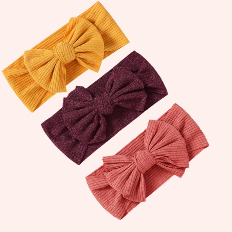 Bowknot Baby Headband Elastic Turban Hairband Bows Kids Baby Girl Headbands Hair Bands For Baby Girls Haarband Hair Accessories