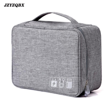 купить Digital Travel Bag Cationic Polyester Data Cable Storage Bag Multi-function Electronic Accessories Organizer Pouch reistas по цене 497.63 рублей