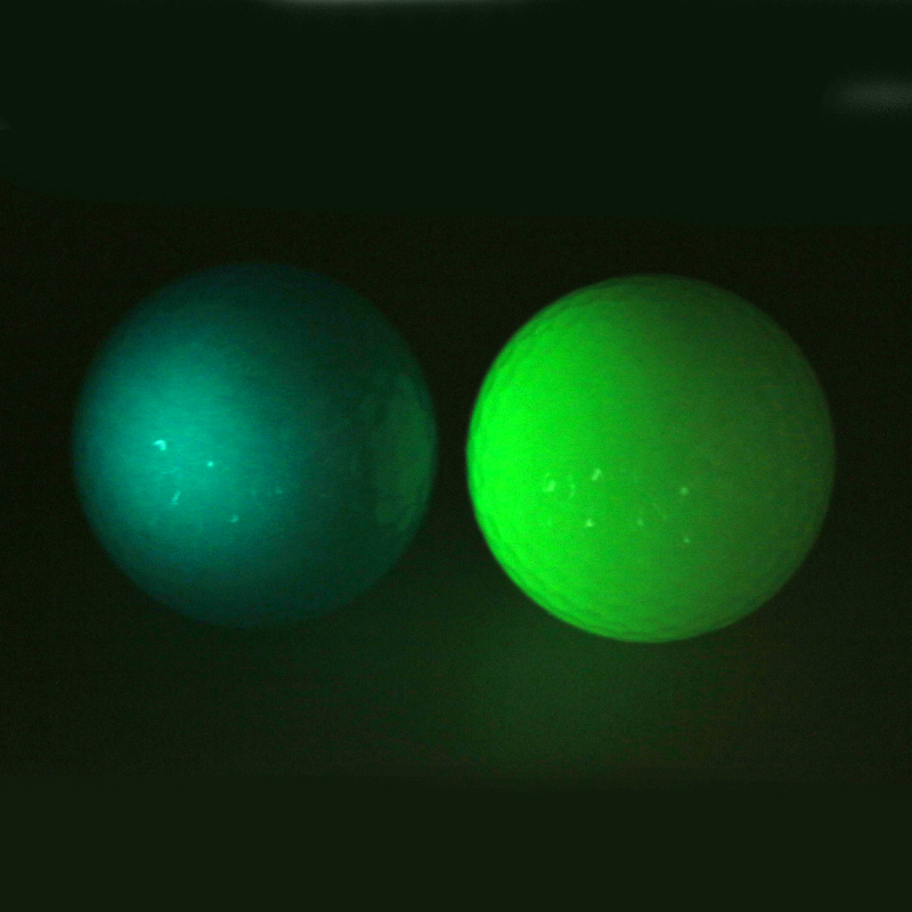 Luminous Golf Balls Training Practice Balls Glow In The Dark Night Light Fluorescent Tournament Tennis Balls 40mm