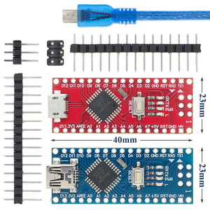 Image 1 - 10PCS 미니 USB/마이크로 USB 나노 3.0 ATMEGA328P/ATMEGA168P ardunio 컨트롤러 호환 나노 CH340 USB 드라이버