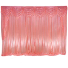 Frete grátis 3x3m 10x10ft 3x6m seda gelo pano de fundo cortinas palco com swags para casamento evento festa banquete decoração
