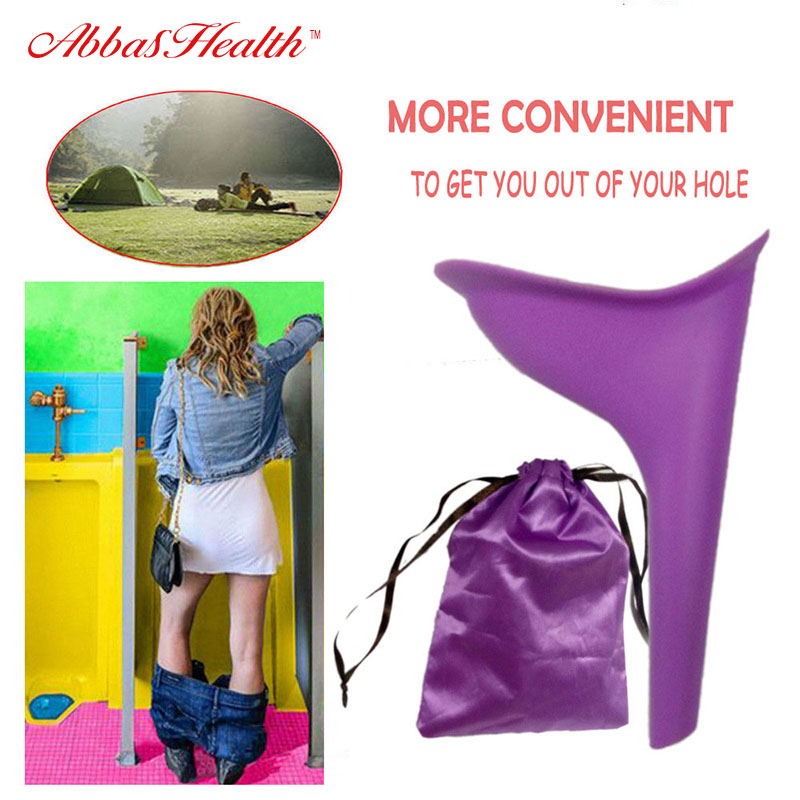 Factory Direct Sales Portable Female Outdoor Travel Silicone Stand Up Pee Portable Urinal In Feminine Hygiene Product