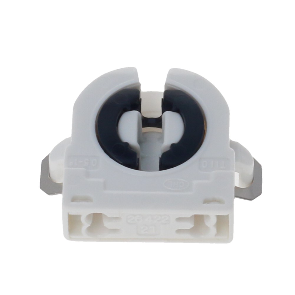 New 2~10pcs T8 White Lamp Holder AC 500V 2A G13-F41A T8 Tube G13 Fluorescent Light LED Bulb Plastic Holder Socket