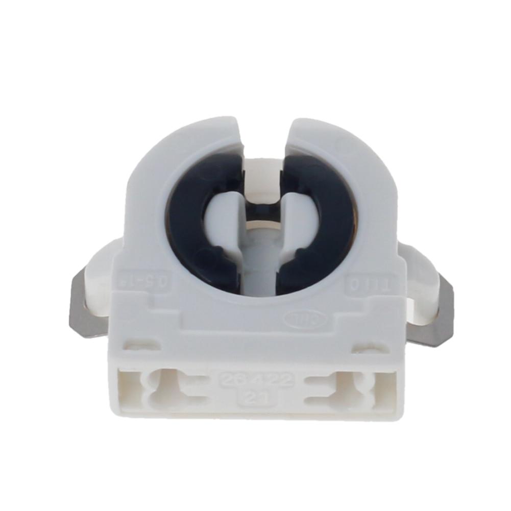 New 2~10pcs T8 White Lamp Holder AC 500V 2A G13-F41A T8 Tube G13 Fluorescent Light LED Bulb Plastic Holder Socket