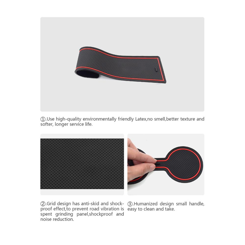 Image 3 - RUIYA Door Groove Mat For Kia Ceed 2018 2019/XCeed 2020 Car Anti Slip Gate Slot Pads Auto Interior Front And Rear Door Dust PadScreen Protectors   - AliExpress