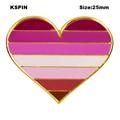 ЛГБТ Радуга гомосексуал помада поцелуй губы лесбийская Гордость Флаг гордость в форме сердца флаг лацкан шпилька бейдж; Брошь на булавке зн...
