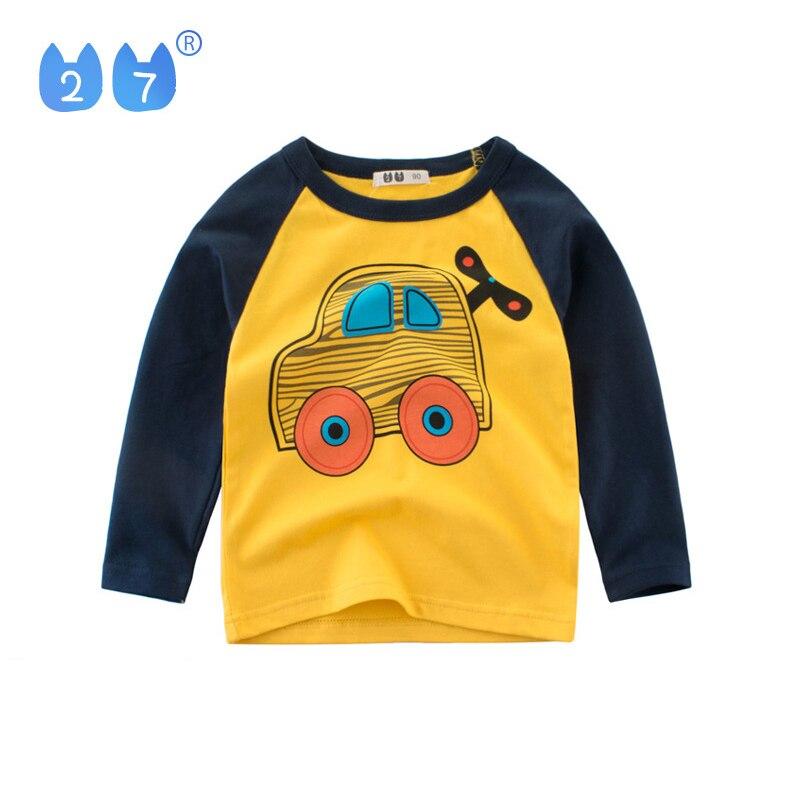 27kids 2-9Years Fashion Children Kids Long Sleeve T-Shirts Oil Painting Brush PatternBoys Girls Love T Shirt For Drawing Costume