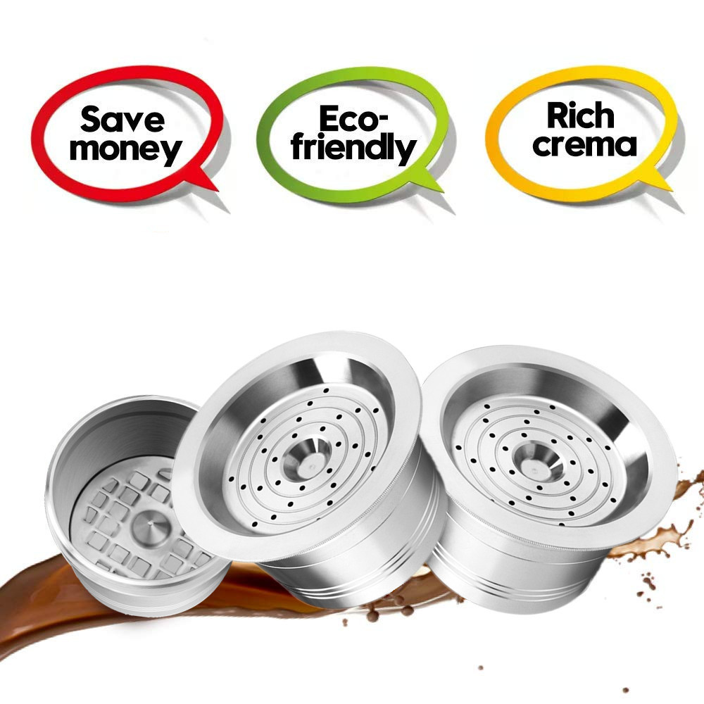 Stainless Steel Coffee Capsule Pod For Caffitaly Tchibo Cafissimo K-fee ALDI Expressi Refillable Cafe Filters