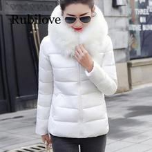 Rubilove Big Fur 2019 New Parkas Female Women Winter Coat Thick Cotton Jacket Womens Outwear for down